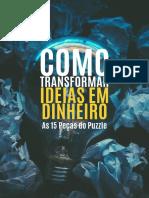 eBook Como Transformar Ideias Em Dinheiro