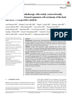 Concurrent Chemoradiotherapy With Weekly Versus Triweekly in Locally Advance Head and Neck Cancer, A Comparative Analysis