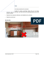 Cabinet specification