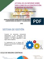 DISEÑO ESTRUCTURAL DE UN INFORME SOBRE ACCIONES A LLEVAR A CABO EN LA CONSTRUCCION DE UN SISTEMA DE GESTION.ppt