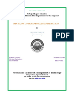 Front Page for project file BBA and MBA and BCA