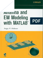 Antenna and Em Modeling With Matlab