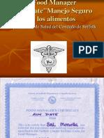 Food Manager Certicate Espanol 2011