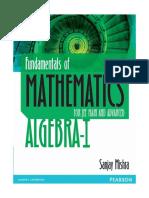 Algebra 1 Sanjay Mishra