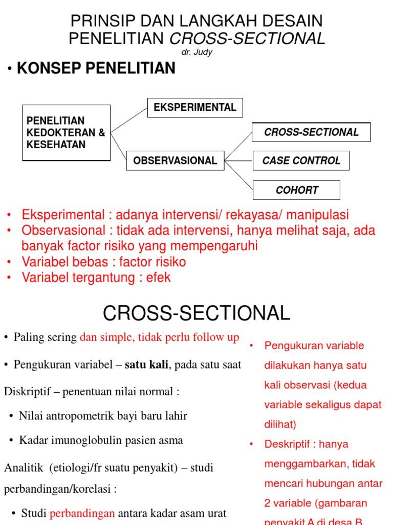 Prinsip Dan Langkah Desain Penelitian Cross Sectional