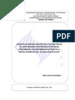 Diseño de Un Sistema de Gestión de La Calidad Para El Taller de Bobinado de Motores Eléctricos Del Departamento de Mantenimiento Eléctrico