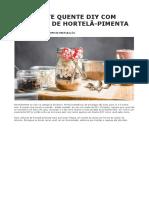 Chocolate Quente Diy Com Colheres de Hortelã-pimenta