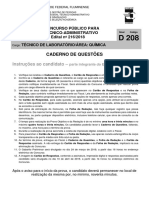 UFF Edital 216 2018 TecnicodeLaboratorio Area Quimica