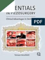Essentials in Piezosurger Clinical Advantages in Dentistry Vercellotti