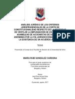 Analisis Juridico de los criterios jurisprudenciales en la impugnación de acuerdos societarios.
