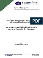 Vocabulario Bilingue Agencia Espacial 2019