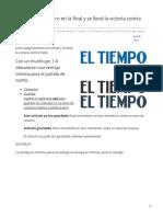 Eltiempo.com-Junior Pegó Primero en La Final y Se Llevó La Victoria Contra Pasto