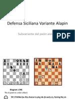 Defensa Siciliana Variante Alapin
