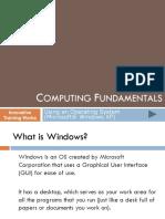 3 Computing Fundamentals - Operating System