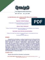 La Importancia de La Educacion Fisica en El Sistema Educativo