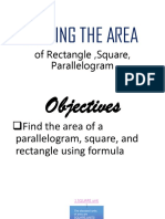 Area of Square, Rectangle