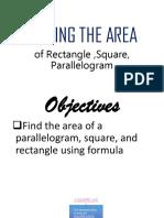 Area of Square, Rectangle