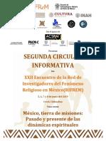 Segunda Circular Informativa - XXII Encuentro RIFREM 2019