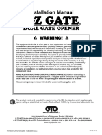 E Z Gate Dual Manual