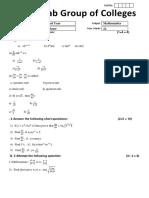 Phase Test 2 Math 2nd Year