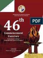 46th Commencement Exercises Souvenir Program