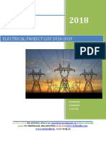 IEEE 2018 and 2019 Electrical Project List and Abstract