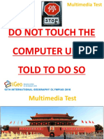 IGeO 2016 Multimedia Test