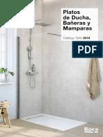 Catálogo-Tarifa Platos de Ducha, Bañeras y Mamparas 2018