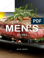 Julia Chiles - Mouthwatering Men's Recipes a Manly Cookbook of Hearty, Delicious Dish Ideas! (2019)