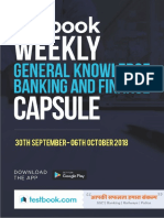 Weekly Gk Banking Capsule 30 Sept 6th Oct 2018
