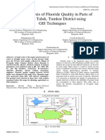 Spatial Analysis of Fluoride Quality in Parts of Pavagada Taluk, Tumkur District using GIS Techniques