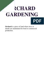 Orchard Gardening