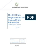 The GCC Data Requirements for Human Drugs Submission Version 1 1 GCC
