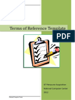 Term of Reference