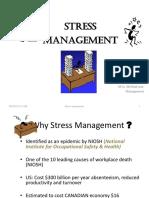 Stress Management Teaching Msc