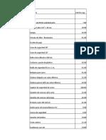 Lista de Precios