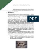 Informe de Evaluación y Reparación Estructural