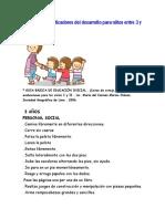 Propuesta de Indicadores Del Desarrollo Para Niños Entre 3 y 6 Años