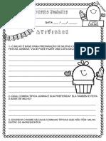 Atividades Festas Juninas Alfabetização Ideia Criativa