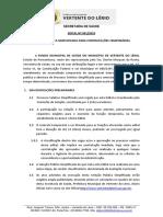 Edital 001 2019 Seleção Pública Simplificada Saúde