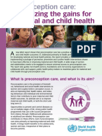Preconception Care Policy Brief