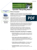 Greywater Recycling