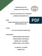 MODELO MATEMÁTICO DE EFECTOS DEL VIENTO EN ESTRUCTURAS ALTAS