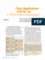 F-Shell Heat Exchangers