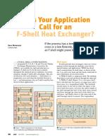 F-Shell Heat Exchangers