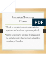 Uncertainty in Measurements1 2