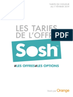 Tarifs Sosh