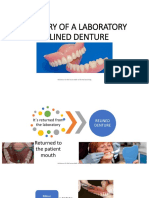 Delivery of a Laboratory Relined Denture