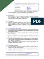 Procedimento de Segurança - Utilização de Andaimes