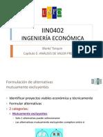 5_IIN0402 Analisis Valor Presente_cap 5 CLASE - Para Compartir